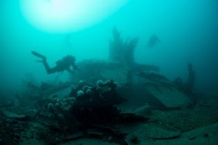 diving in Scapa - credit Ghost Fishing