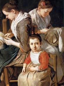 giacomo_ceruti_-_women_working_on_pillow_lace_detail_-_wga4673