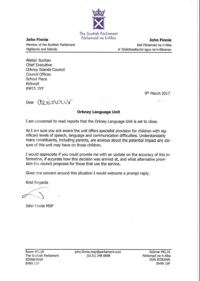 John letter
