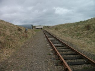 wide gauge railway tracks at Lyness (F Grahame)