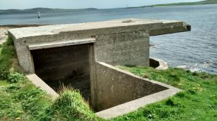 Coastal platforms for searchlights at the pathway from Links Battery Stromness (F Grahame)