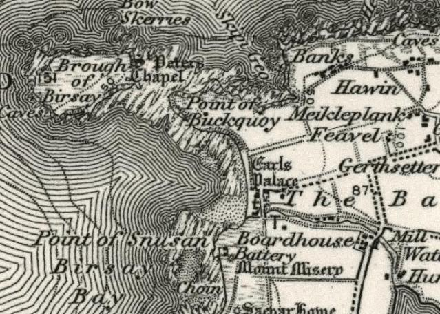 Birsay old map