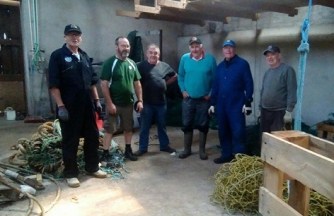 Some of the members of the Orkney Mens Shed (N Morrison)