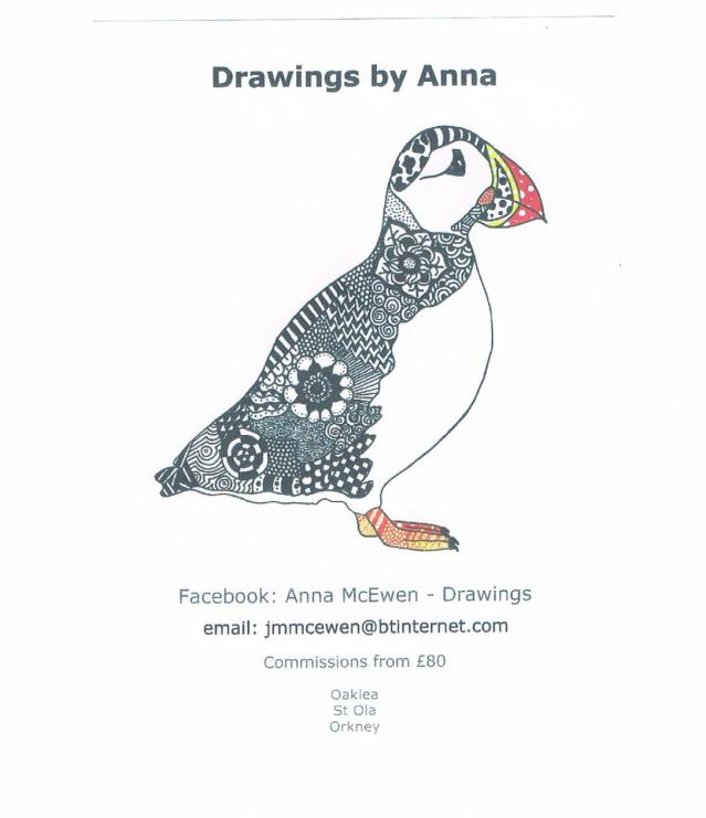 Anna drawings puffin