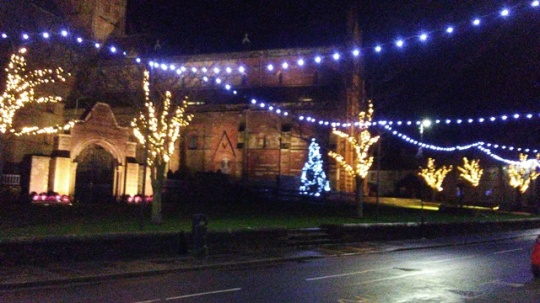 Christmas lights in Kirkwall