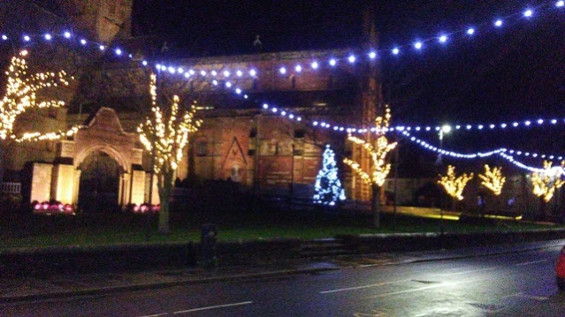 Christmas lights in Kirkwall