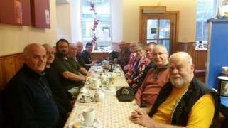 From the Left clockwise: Malcolm,Stephen, Simon,Eddy,Carl,Robert,Les,Brian,Moira,John, Ken,Nick (photo K Armet)