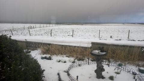Winter Scene overlooking the North Isles.