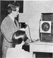 John Logie Baird and his television receiver