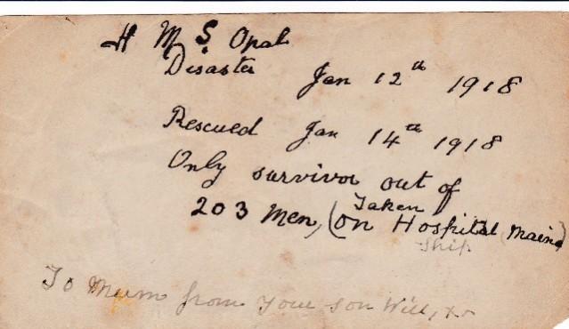 William Sissons 2 family letter