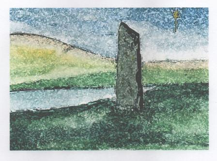 standing stone Mike Bell