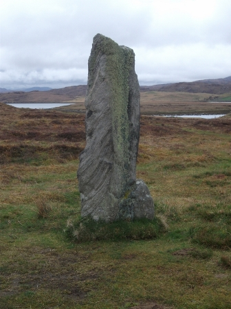 standing stone on Lewis B Bell