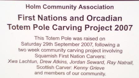 Totem Pole Orkney explanation B Bell