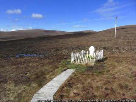 Betty Corrigall grave by Colin Park