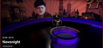 Corbyn in Russian hat