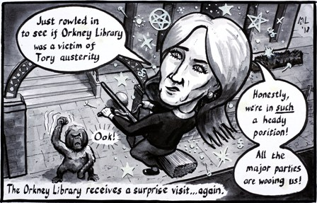 Library cartoon by Martin Laird