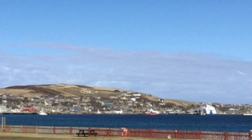 Stromness camp site view 1