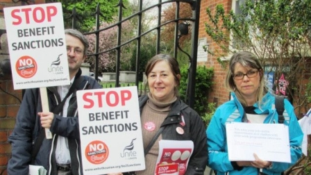Benefit Sanctions protest