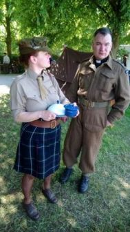 Field Padre and WRAC member