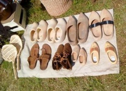 Re enactment Festival N Morrison clogs and shoes