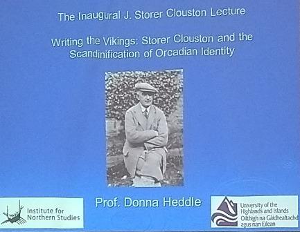Storer Clouston lecture