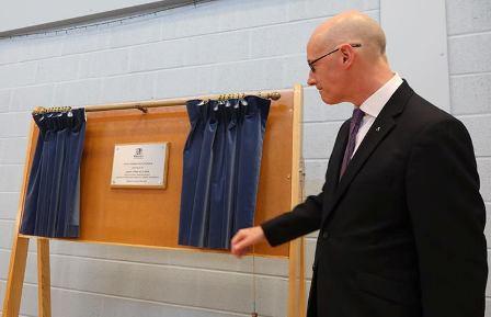 John Swinney and the New Evie School