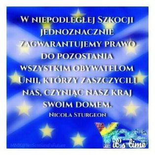 Polish version of EU welcome
