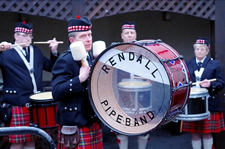 The Rendall Pipe Band by Martin Laird ON
