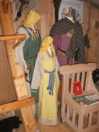 Viking clothes Uig Museum Western Isles B Bell