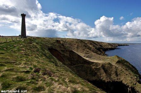 Covenanters memorial and Deerness coastline