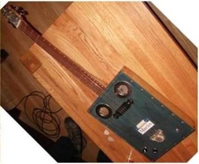 Erics home made guitar B Bell