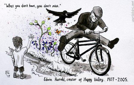 Happy Valley cartoon M Laird
