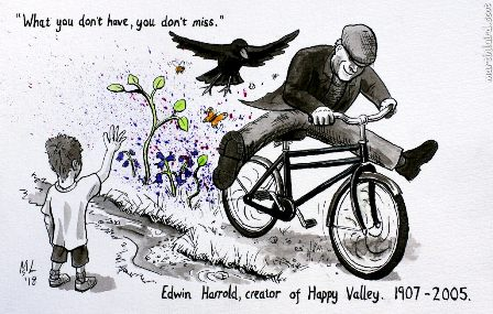 Happy Valley cartoon M Laird