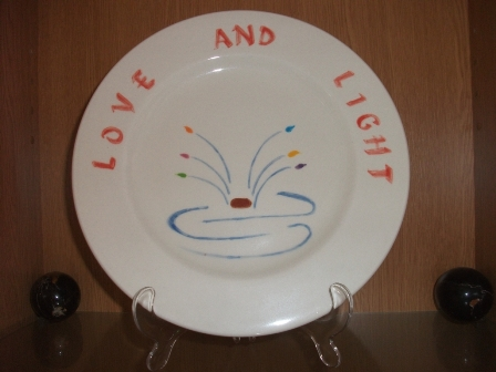 Love and Light plate B Bell