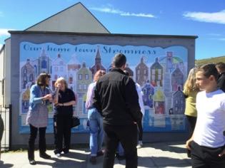 mural visitors