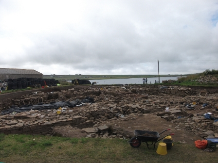 Ness of Brodgar - from the viewing platform July 2018 B Bell