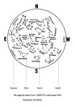 August 2018 map Astronomy Duncan Lunan