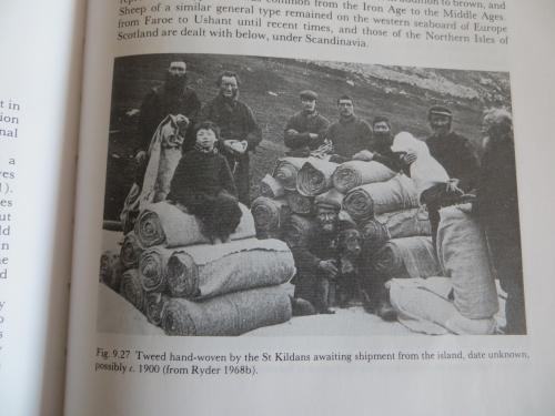 Hand woven tweed on St Kilda
