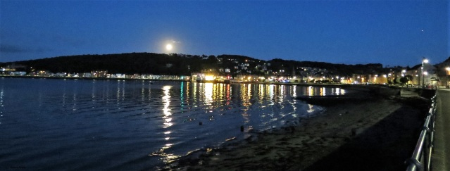 Night Moon over Rothesay Bay