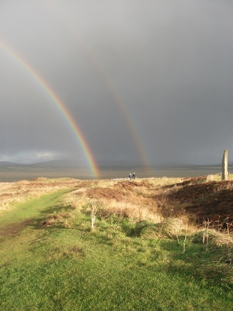 Ring of Brodgar and rainbow B Bell