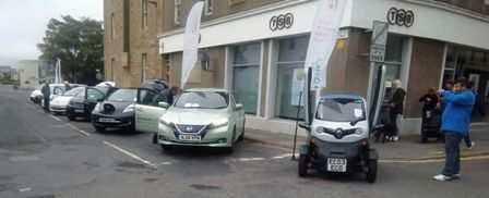Electric vehicles on show at the Orkney International Science Festival
