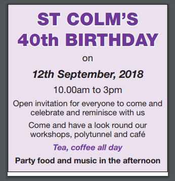 St Colms 40th