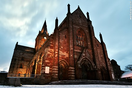 st magnus cathedral in winter