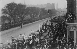 The Great Procession and Women's Demonstration 1909 on Princes Street, Edinburgh