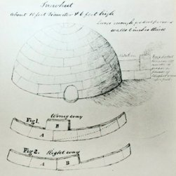 John Rae igloo drawing from Stromness Museum