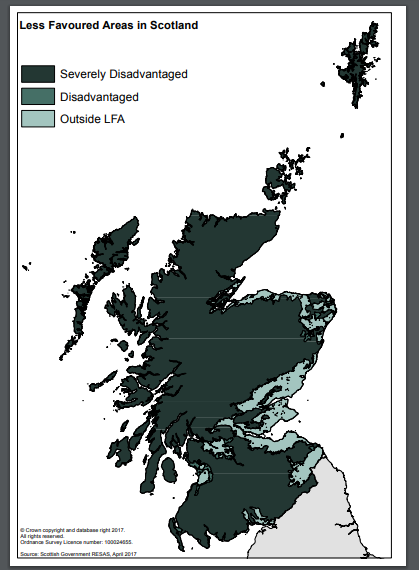 less favoured area map