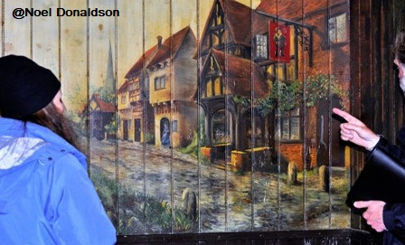 The mural restored by Historic Environment Scotland