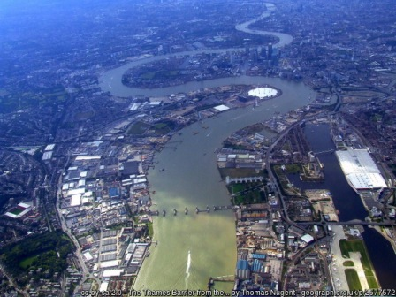 Thames Barrier from the air Thomas Nugent