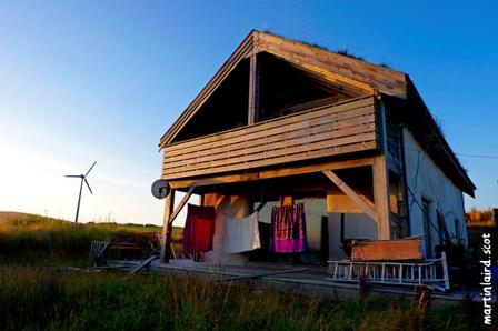 Nick Morrison's straw house