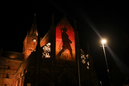 Orkney WW1 projection - media two